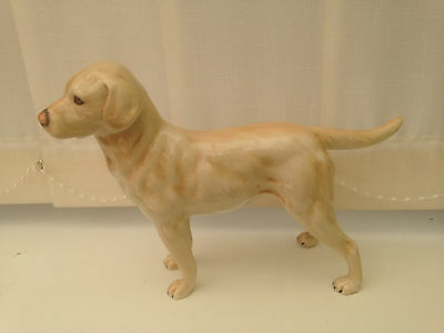 Beswick  Dog - Large Ivory/brown   Labrador Ch 616 Factory Mark & 1968