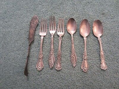 Sterling Silver Flatware Scrap Or Not Antique 178 Grams Sterling Silver