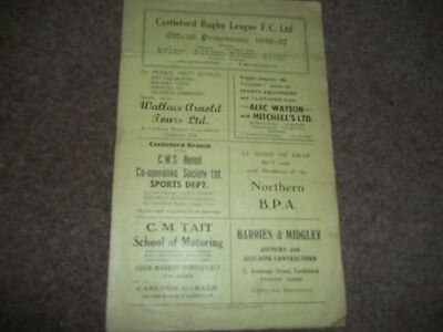 Rare Vintage Castleford V Barrow 23Rd February 1957 - Over 60 Years Old!!