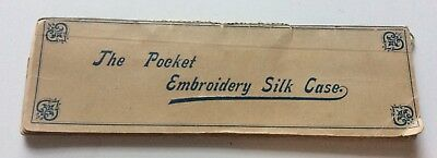 Vintage Sewing Accessory The Pocket Embroidery Silk Case By Briggs