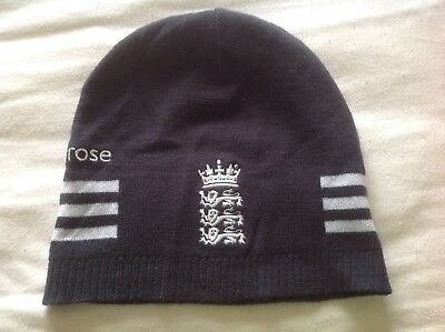 England ECB Adidas Cricket Training Beanie Hat - Player Issue Only VERY RARE