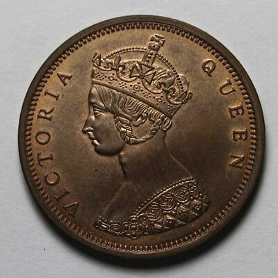 1862 Hong kong Victoria Queen One Cents