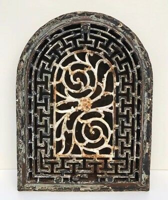 Antique Cast Iron Arch Top Dome Heat Grate ~ Vintage Heat Vent / Wall Register