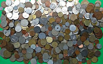 Lot of 8.1 lbs Mixed Foreign World Coins Pounds of Fun bulk bag WD Low Price!