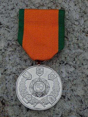 F.C.A. and Slua Muiri Stand Down Medal, with pin ribbon bar