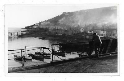 Superb Real Photographic Postcard Of Mousehole Cornwall Posted 1951