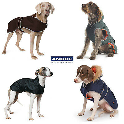 Ancol Mud Paws Timberwolf Extreme Wax Whippet Greyhound Dog Coat Parka Warm