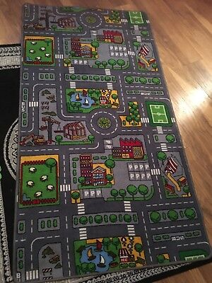 Children's Kids Rug/mat Town Road Map City Cars Rug/ Mat 6ft by 3ft3