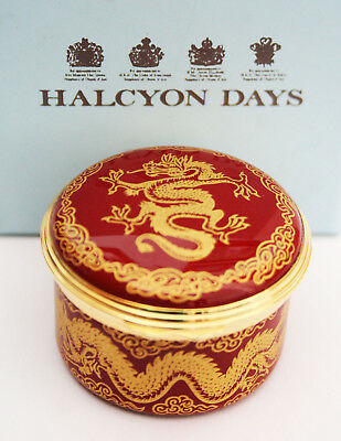 Halcyon Days Enamel Pill Box Chinese Year Of The Dragon