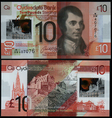 Scotland Clydesdale 10 Pounds (P New) 2017 Polymer Unc