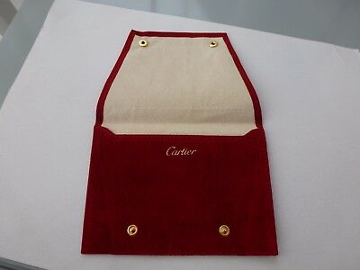 Cartier Watch / Jewellery Buttoned Pouch !