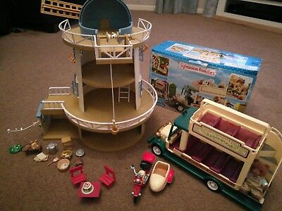 Sylvanian Windmill and Woodland Bus