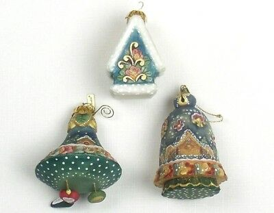G. DeBrekht Derevo Collection CHRISTMAS ORNAMENTS Blue Bell WINTER CHARMS