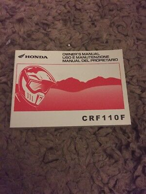 2017 HONDA Crf 110 OWNERS MANUAL HANDBOOK 37Kykb20