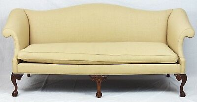 Southwood Chppendale Claw and Ball Mahogany Sofa Williamsburg Style
