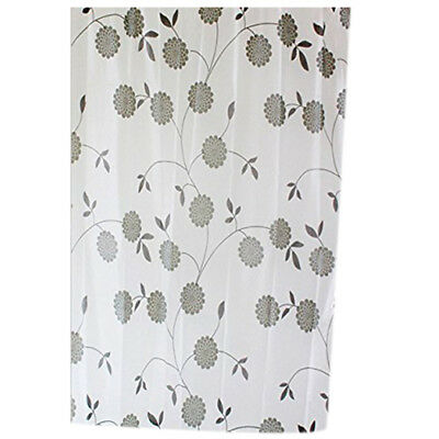 FP 180 x 200cm Waterproof Mould Proof Shower Curtain Both Curtain + 12 Hooks (Le