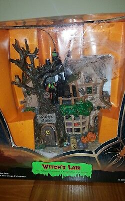 LEMAX Spooky Town Witch's Lair Animated #45003 EXCELLENT opened only to check