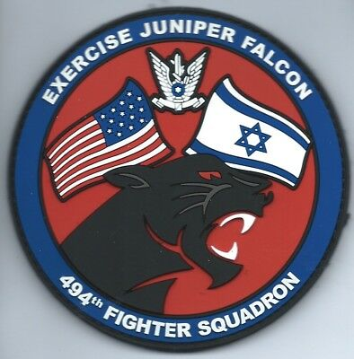 Usaf Patch 494  Fighter Squadron Juniper Falcon 2017  Raf Lakenheath On Velcro