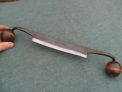 "Good 6 1/2"" Curved French Drawknife."