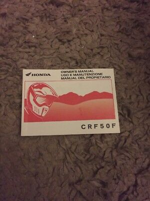 2016 HONDA Crf 50 Owners MANUAL HANDBOOK 37Gel700