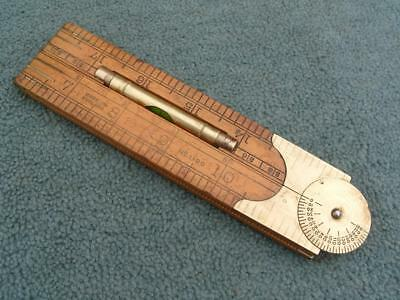 "24"" Four fold Protractor & Level Boxwood Rule by Rabone, No 1190."