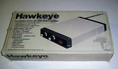 Vintage Hawkeye Cordless Video/Audio Transmitter VTR-80 -Made in USA
