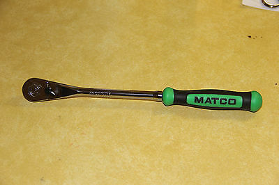 "MATCO TOOLS MODEL No. BFR118TG, 3/8"" DRIVE,GREEN HANDLE SOFT GRIP RATCHET"