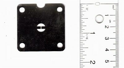 """X-Band Iris Filter Plate For WR-90 Flange 0.032"""" Thick- Nickel Platted"""
