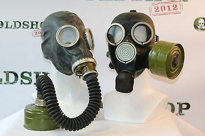 SET of Gas Masks GP-5 with filter & hose BLACK + GP-7 with filter Soviet Russian