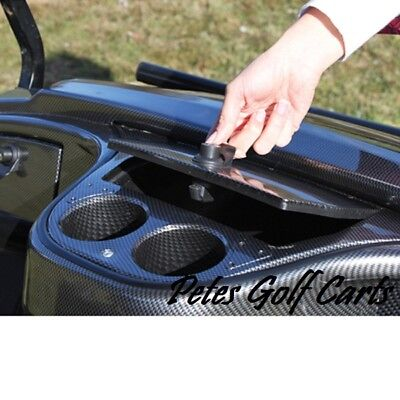 Golf Cart Dash Kit Carbon Fiber GLOVE BOX CUP HOLDER INSERT Yamaha Drive