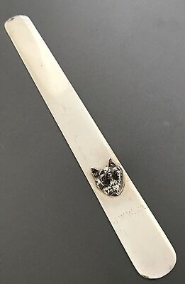 RARE S. Kirk & Son STERLING SILVER Paperweight / Letter Opener Fox Head 6.2oz