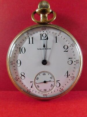 Antique Gold Plated Waltham Pocket Watch