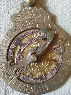 Antique Islamic Brass Astrolabe Navigation Astrologic Ottoman Persian Syria arab