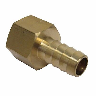 New Brass 1/2 In. Fnpt X Hose Barb Straight Fitting For 1/2 In. Id Hose Nib