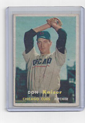 1957 Topps #134 DON KAISER CHICAGO CUBS GREAT Card VG - Selten Rare