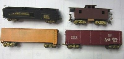 TT Scale Lot of Freight Cars & Caboose All w/ Brass Trucks & Some Original Boxes