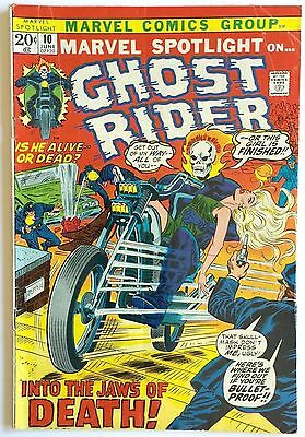 Vintage 1973 Marvel Spotlight #10 ~ Ghost Rider Into The Jaws Of Death Vg+