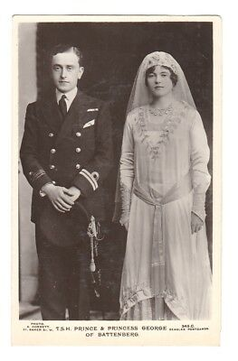Rare Royalty Postcard. Prince and Princess George of Battenberg
