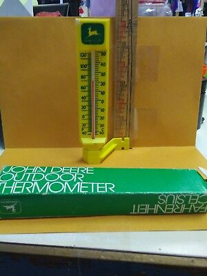 Way Cool JOHN DEERE Outdoor THERMOMETER...MINT IN BOX!