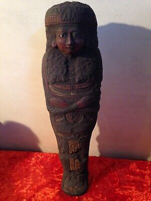 Egypt statue of Egyptian queen as Shabti winged scarab winged isis
