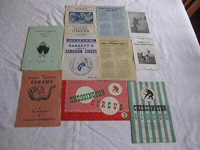 1950's PERIOD CIRCUS PROGRAMMES x SIX IN GOOD CONDITION OR BETTER SEE SCANS.