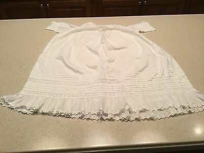 Vintage Child Childrens Christening Gown Dress Short  Sleeve