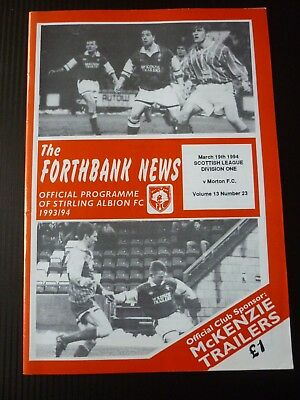 Stirling Albion V Morton 19/3/1994