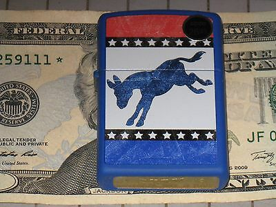 29166 Democrat Donkey Red White Blue Party New ZIPPO USA Windproof Flame Lighter