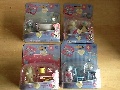 4  Tatty Teddy Blue Nose Friends Playsets Chilly Blossom Kittywink Figures Wow