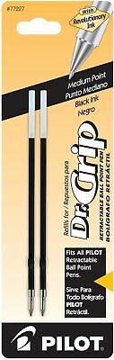 Pilot Dr. Grip Ballpoint Ink Refill 2-Pack for Retractable Pens Medium Point ...