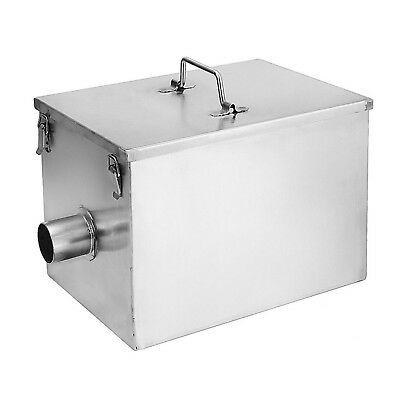 BEAMNOVA Commercial 8LB 5GPM Gallons Per Minute Grease Trap Stainless Steel I...