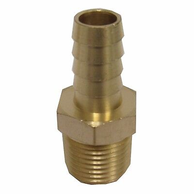 New (2) Pk. Brass 1/2 In. Mnpt X Hose Barb Straight Fitting For 1/2 In. Id Hose