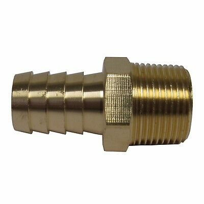 New (10) Pk Brass 3/4 In. Mnpt X Hose Barb Straight Fitting For 3/4 In. Id Hose