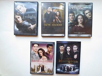 Twilight Saga Lot of 5 DVDs - Complete Collection